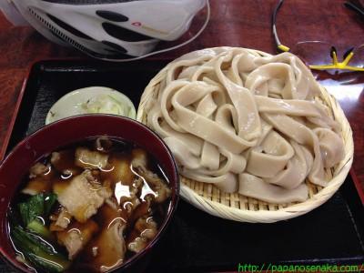 2014_05_10 01 武蔵野うどん 鈴やの肉汁うどん太麺大盛り