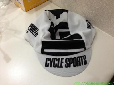 2013_06_23 05 CYCLE SPORTSの付録の帽子