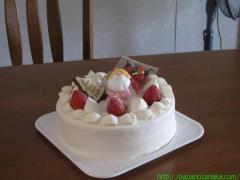 2009_12_20 早めのクリスマスケーキ.JPG